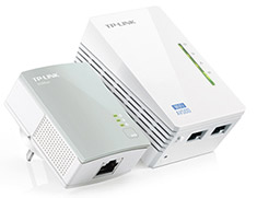 TP-Link TL-WPA4220KIT AV500 WiFi Powerline Extender Starter Kit