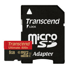 Transcend microSDHC Class 10 UHS-I 600x with Adapter 8GB