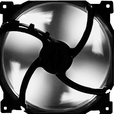 Phanteks 140mm Black Frame White Blade Premier Fan White LED
