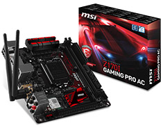 MSI Z170I Gaming Pro AC Mini ITX Motherboard