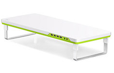 Deepcool M-Desk F1 Monitor Stand - White/Green