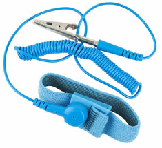 Elastic Anti-Static Wrist Strap Blue