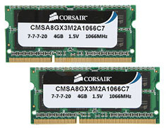 Corsair CMSA8GX3M2A1066C7 8GB (2x4GB) DDR3 SODIMM (Apple Mac)