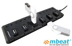 mbeat 13-Port Powered USB Hub