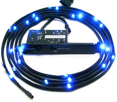 NZXT Sleeved LED Cable 200cm Blue