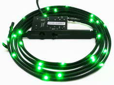 NZXT Sleeved LED Cable 200cm Green