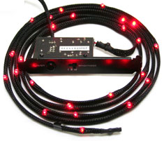 NZXT Sleeved LED Cable 200cm Red