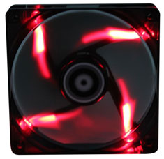 BitFenix Spectre PWM 140mm Black Tinted Red LED Fan