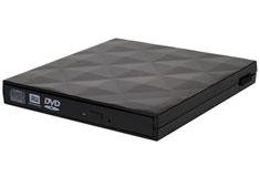 Silverstone TS06 External USB Slim Optical Drive Enclosure Black