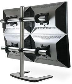 Visidec Freestanding Quad LCD Display Mount