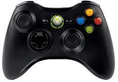 Microsoft Xbox 360 Black Wireless Controller for Windows